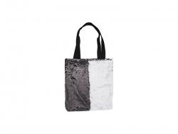 Sequin Double Layer Tote Bag (Black/White, 35*38cm)