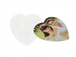 75 Pieces Sublimation Heart Shape Felt Puzzle