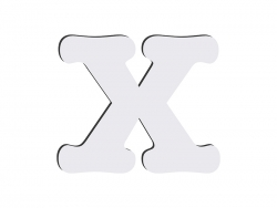 Sublimation HB Letters -X (10*10cm)