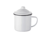 12oz Enamel Mug with Lid