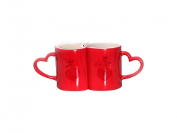 11oz Couple Changing Color Mugs(Red)