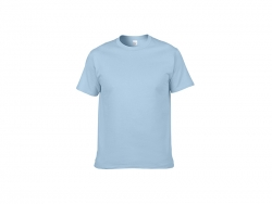 Cotton T-Shirt-Light blue