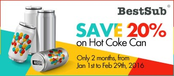 Save 20% on Hot Coke Can from BestSub