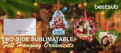 Decorate Christmas with Two-Side Printable Felt Ornaments