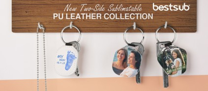 Check it out! BestSub New Two-Side Sublimatable PU Leather Collection