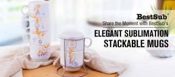 Share the Moment with BestSub's Elegant Stackable Mugs