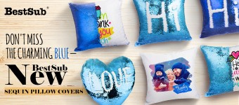 Don't Miss the Charming Blue—BestSub New Sequin Pillow Covers