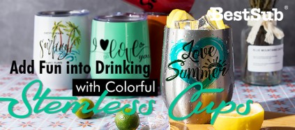 Add Fun into Drinking with Colorful Stemless Cups