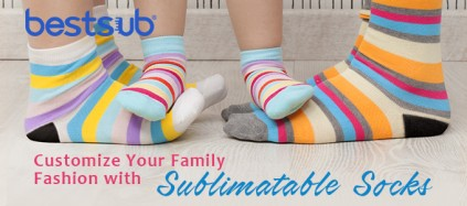 Customize Your Family Fashion with Sublimatable Socks