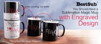 You Should Have a Sublimation Magic Mug with Engraved Design!