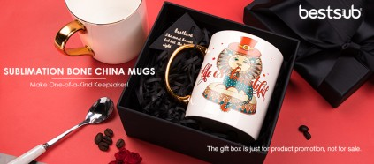 A Real Gold Bone China Mug for Sublimation? Yes!