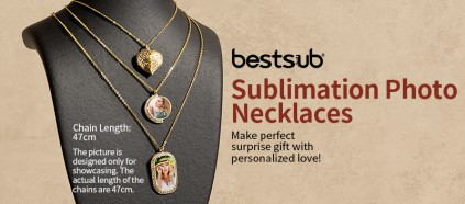 Check Sublimation Photo Necklaces—Perfect Gifts with Personalized Love