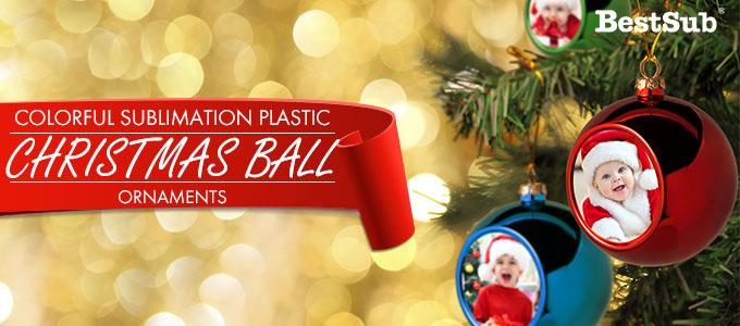 colorful sublimation plastic christmas ball ornaments from bestsub - Plastic Christmas Balls