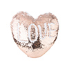 Heart Shaped Sequin Pillow Cover (Champagne w/ White, 39*44cm)