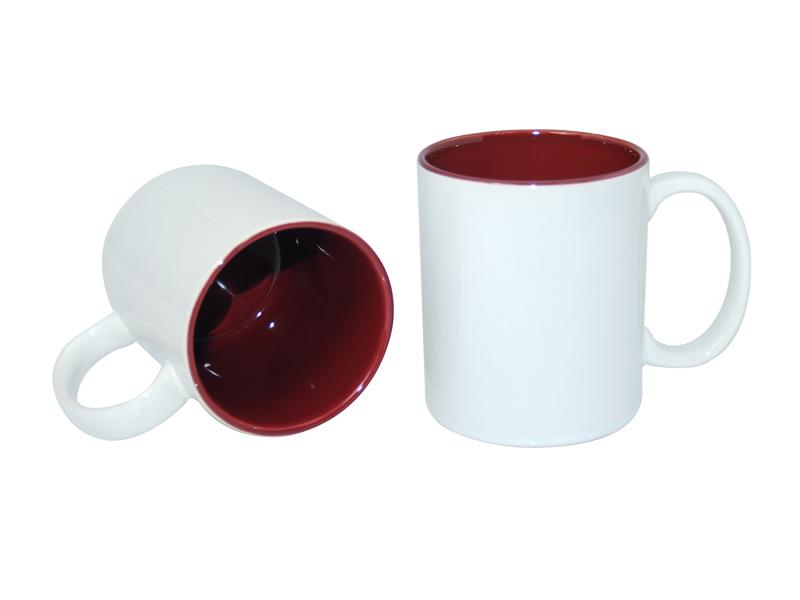 11oz Two Tone Color Mugs Maroon Bestsub Sublimation