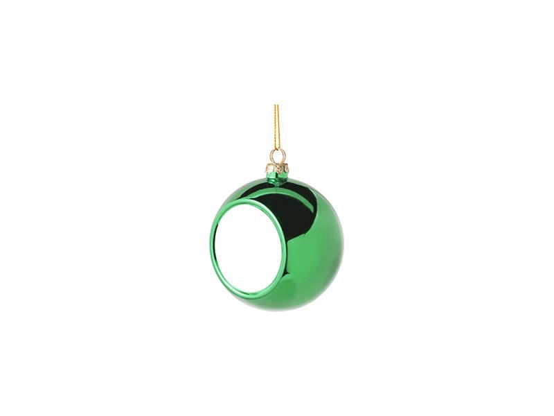 6cm Plastic Christmas Ball Ornament (Green) - BestSub