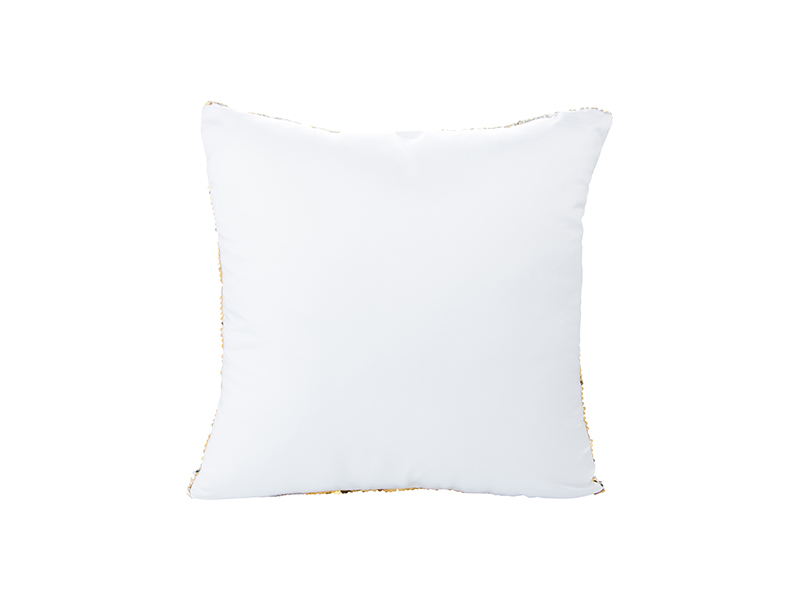 Flip Sequin Pillow Cover Gold W Silver Bestsub