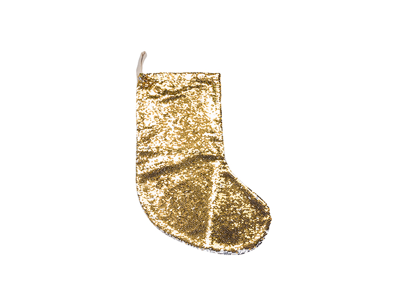 Sequin Christmas Stocking (Gold/Silver, 18*53cm) - BestSub