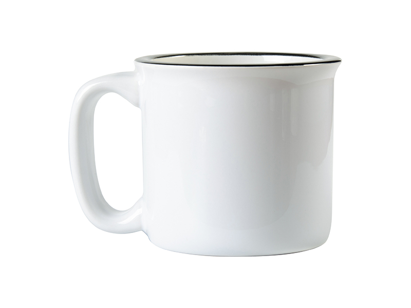 13oz 400ml Ceramic Enamel Mug White Bestsub