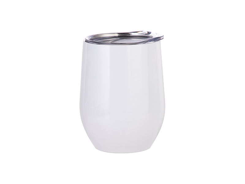 12oz Stainless Steel Stemless Wine Cup (White) - BestSub