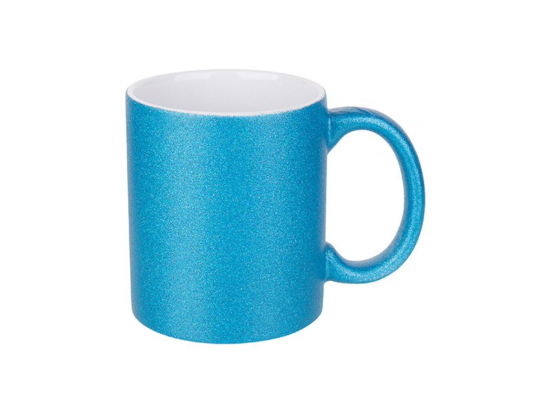 11oz/330ml Glitter Mug (Blue) - BestSub - Sublimation Blanks