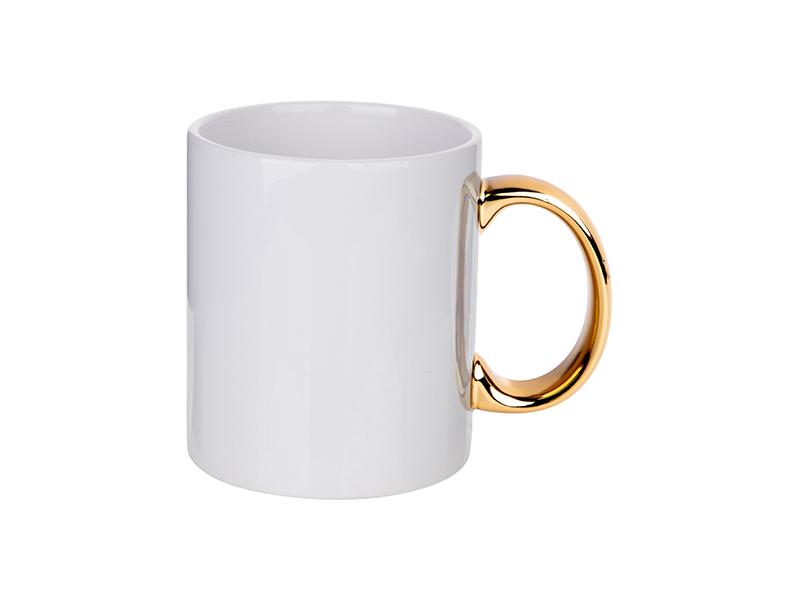 e7a5862b885 11oz Plated Ceramic Mug (Gold Handle) - BestSub - Sublimation Blanks,Sublimation  Mugs,Heat Press,Engraving Blanks,UV&DTG Printing