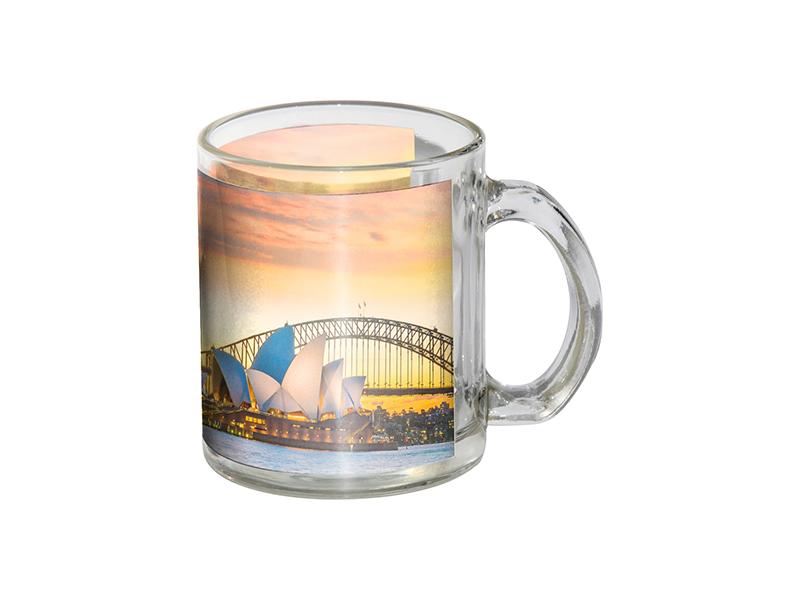 11oz Glass Mug With White Patch Bestsub Sublimation