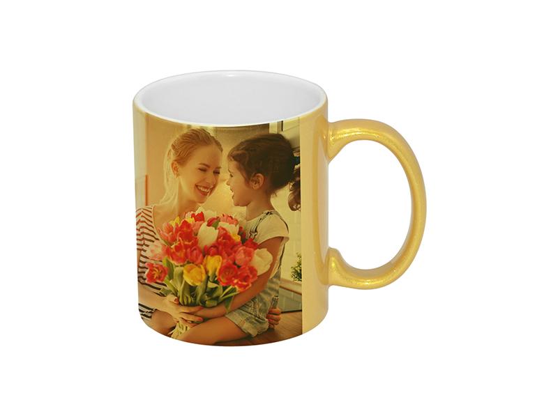 11oz Golden Sparkling Mug Bestsub Sublimation Blanks