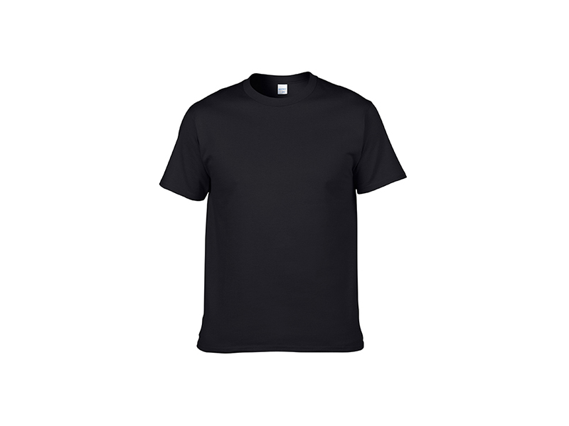 Cotton T Shirt Black Bestsub Sublimation Blanks