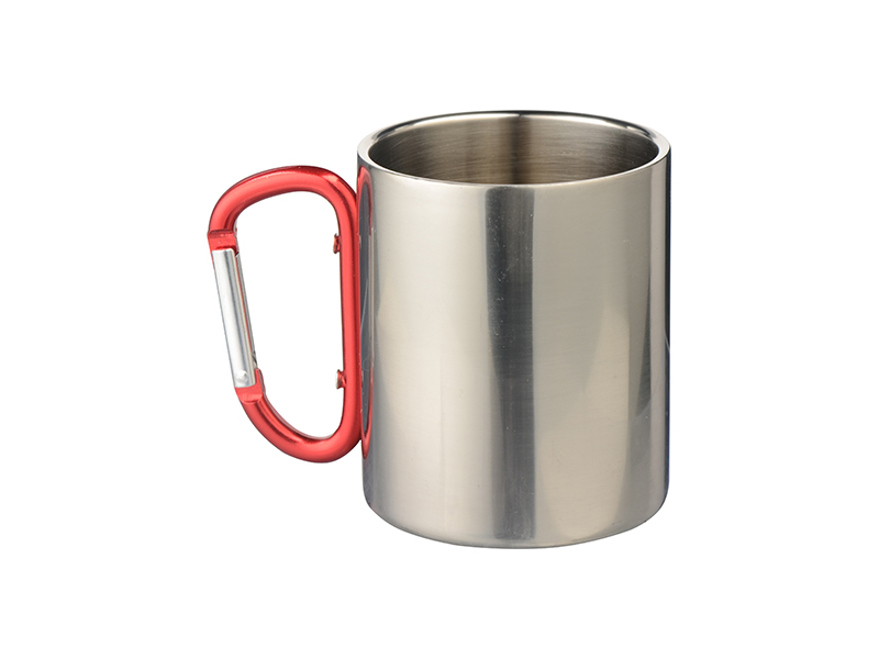 300ml Stainless Steel Mug W Carabiner Handle Bestsub