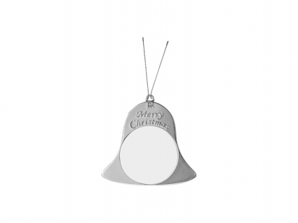 Metal Christmas Bell Ornament (Silver, 7*7.5cm)