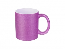 11oz/330ml Glitter Mug (Rose Red)