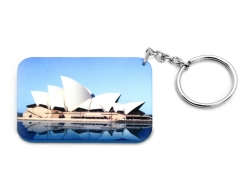 Rectangular Plastic Keychain 48*68mm(Color Edge)