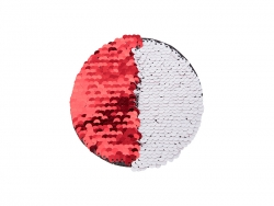 φ10 Flip Sequins Adhesive (Round, Red W/ White)