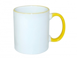 11oz Rim Handle Mug - Yellow