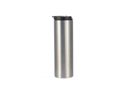 500ml Stainless Steel Flask Bottle (Silver)