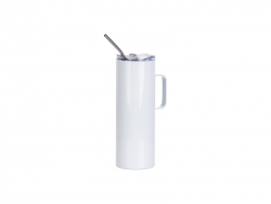20oz/600ml Stainless Steel Skinny Tumbler with Handle & Lid