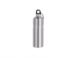 Sublimation 750ml Aluminum Water Bottle (Silver)