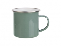 12oz Enamel Mug (Gray Green)