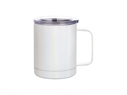 Sublimation 10oz/300ml Glitter Sparkling Stainless Steel Coffee Cup (White)