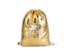 Sequin Drawstring Backpack ( Gold/Silver, 36*45cm)