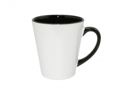 12oz Inner Rim Color Mug (Black)