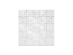 25 Pieces Sublimation Square Shape MDF Puzzle