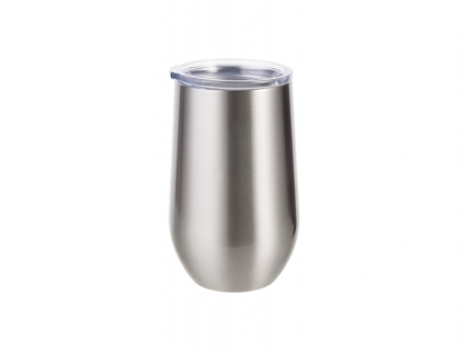 17oz/500ml Stainless Steel Stemless Wine Cup (Silver)