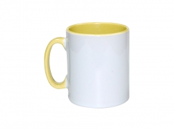 10oz Inner Rim Color Mug(Yellow)