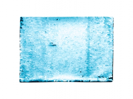 Flip Sequins Adhesive (Rect, Light Blue W/ White)