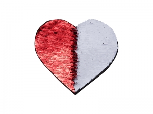 Flip Sequins Adhesive (Heart, Red W/ White)