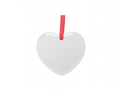"3.5"" Sublimation Glass Ornament (Heart)"