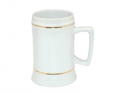 22oz Beer Mug(Gold Rim)