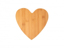 Heart Shaped Bamboo Cutting Board (25.2*25.5*0.9cm) MOQ:1000pcs